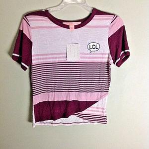 Rebellious One women's stripes T-Shirt NWT Size M